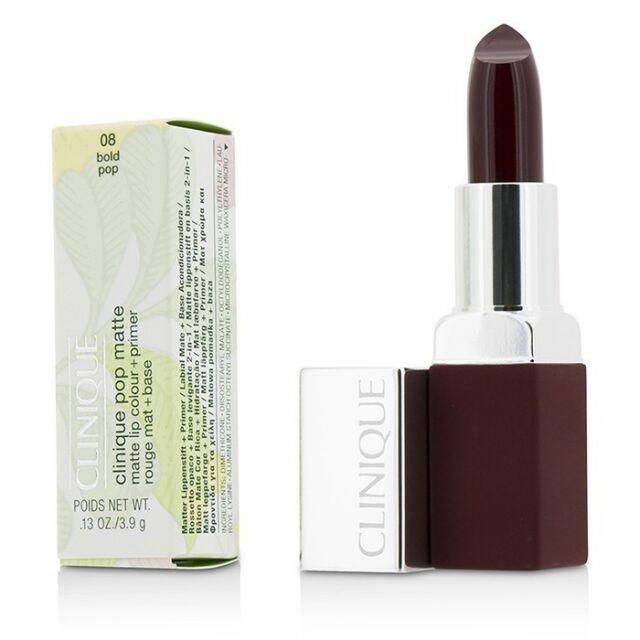 Clinique Pop Matte Lip Colour + Primer - # 08 Bold Pop 3.9g Lip Color