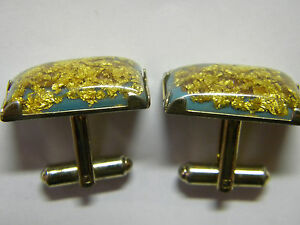 ..WOW.. PURE GOLD FILLED Mens Cuff Links .....
