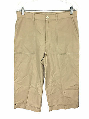 Pants Lovely Lauren Ralph Lauren Petite Capris Khaki Tan Pants Cotton Womens 10p 10 Petites At All Costs