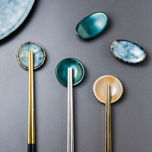 Chopsticks-Holder-Ceramic-Stand-Kitchen-Spoon-Fork-Rest-Tableware-Home-Decor