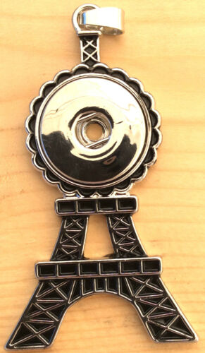 Eifel Tower Pendant For Necklace Fit Ginger Snaps Style Snap Buttons