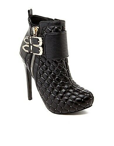 STEVE MADDEN Women's KEYSHIA COLE WRKIT HIGH HEEL ANKLE BOOTIES Pumps shoes 7