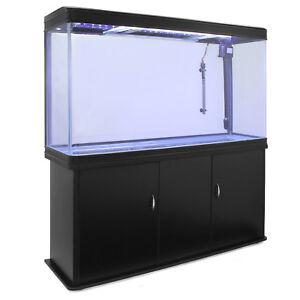 Aquarium-avec-Meuble-a-Bords-Noir-300-Litres-Complet-Eclairage-LED-Pompe-Filtre