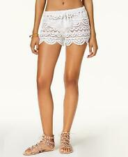 11d9bab8d021a item 3 NWT Miken White Scalloped Crochet Swimsuit Cover Up Shorts Small  map10 -NWT Miken White Scalloped Crochet Swimsuit Cover Up Shorts Small  map10