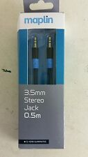 Maplin  3.5mm Stereo Jack Cable 0.5M