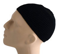 Solid Colored Elastic Skull Cap Kufi Hats (black)