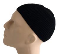 Solid Colored Elastic Skull Cap Kufi Hats (black)