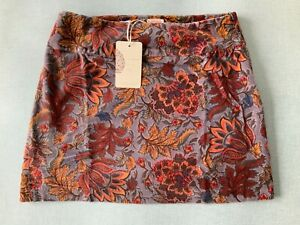 NOMADS-Velvet-Mini-Skirt-Size-18-in-Rust-AU34-Fairtrade-Ethically-Sourced
