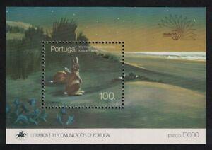 Portugal-Lievre-Parcs-nationaux-et-reserves-MS-1985-neuf-sans-charniere-SG-MS2028