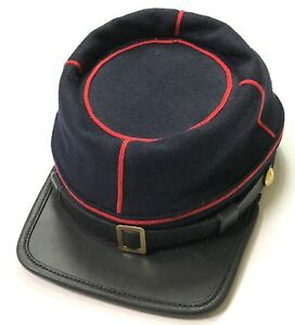 CIVIL-WAR-US-UNION-INFANTRY-STATE-MILITIA-WOOL-KEPI-FORAGE-CAP-HAT-MEDIUM