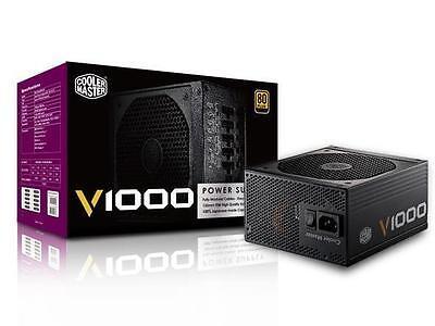 Cooler Master V Series Full Modular V1000 1000w 80PlusGold PSU UK Cables