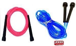 2-x-SKIPPING-saltando-salta-la-corda-gymexercise-ALLENAMENTO-CROSSFIT-MMA-BOXE-Pink-amp-Blue