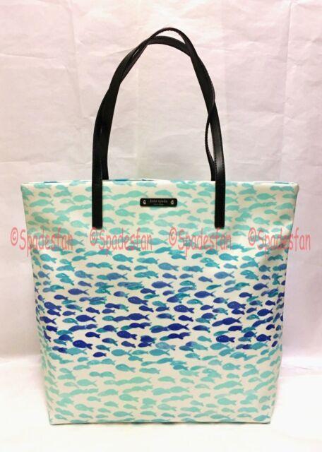 A Spade Kate Plenty Bon Bag Splash Tote Wkru3806 Shopper Make Fish R34LA5j