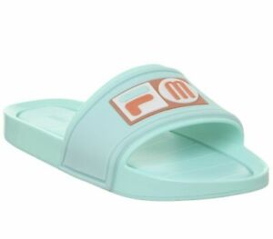 Womens-Fila-Melissa-Slide-Fila-Aqua-Sandals