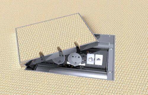 Einbausteckdose Fußbodendose,Bodensteckdose Edelstahl V2A