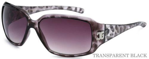 CG Unisex Vintage Style Sqaure High Fashion Sunglasses Transparent Black CG125