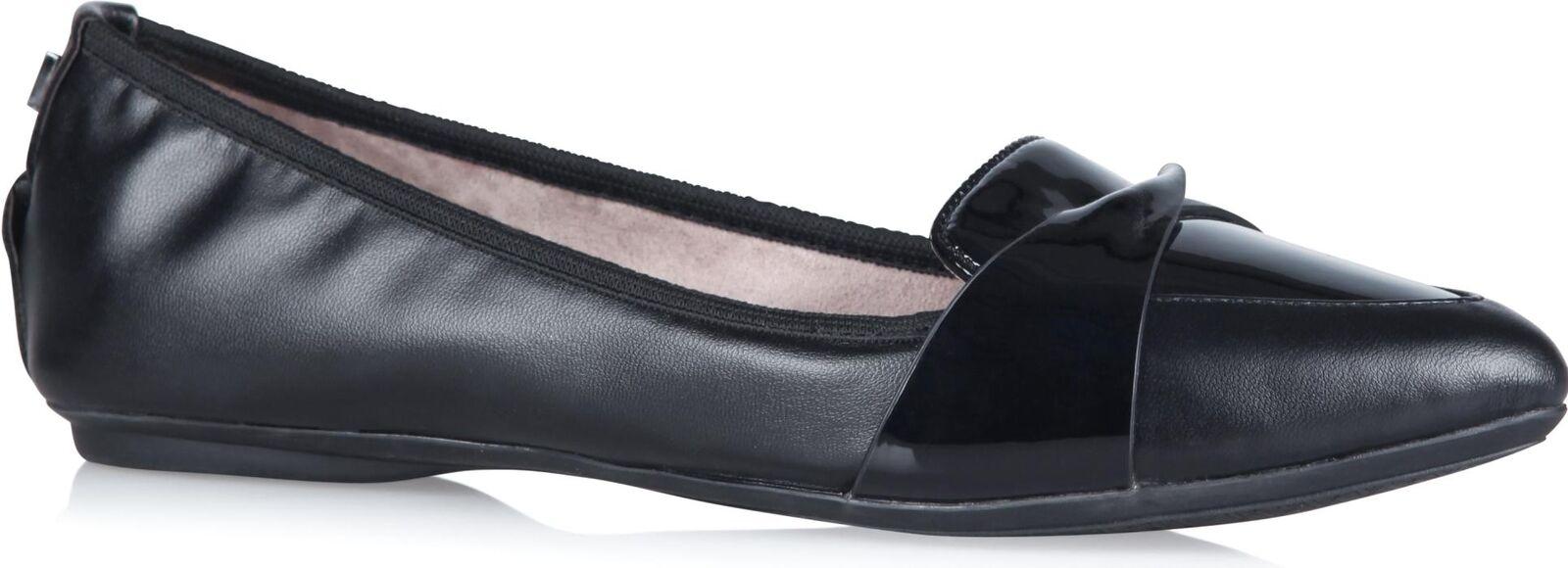 Butterfly Twists Rebecca Femmes Femmes Pointu Ballerine Replier Plat Chaussures Noir
