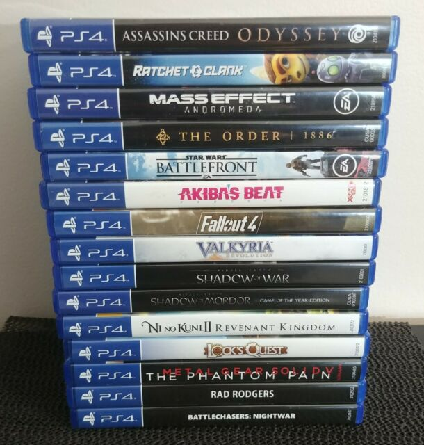 PLAYSTATION 4 Lot of 15 Games PS4 All Complete CIB - RPG's & MORE