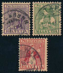 SCHWEIZ-1917-MiNr-133-135-133-35-sauber-gestempelt-Mi-110