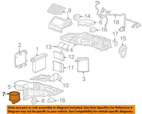 Hummer GM OEM 2008 H2 6.2L-V8 Evaporator Heater-Fan /& Motor 89019320