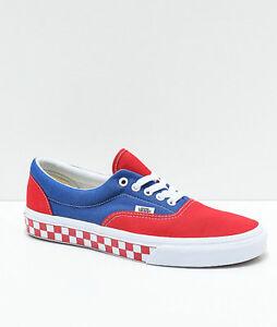 Vans Era BMX Red White Blue Checkerboard Skate Shoes VN0A38FRU8H  b0531ada0