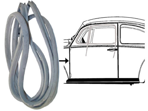 VW Beetle Left Door Seal T1 Rubber 1947-66 Inner Full Complete Brazillian Bug