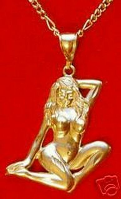 Big artistic nude lady woman art 24kt gold plated charm ebay big artistic nude lady woman art 24kt gold plated charm aloadofball Gallery