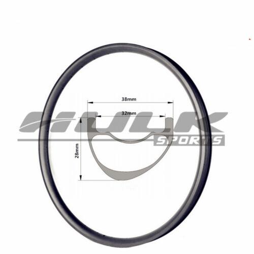 29er 38mm wide MTB carbon rim offset mountain bike rim asymmetric profile design