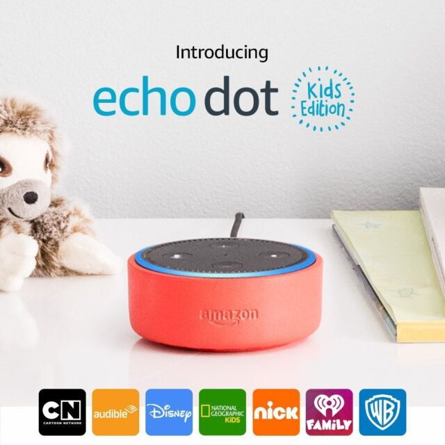 Echo Dot Kids Edition Smart Speaker w/ Alexa & Parental Controls - Red Case