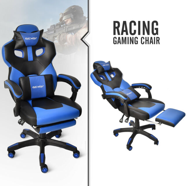 Miraculous Gaming Chair Ergonomic High Back Adjustable Pu Leather Office Recliner Footrest Machost Co Dining Chair Design Ideas Machostcouk