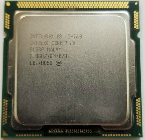 INTEL CORE i5-760 SLBRP 2.8GHZ 8MB CPU PROCESSOR TESTED WARRANTY