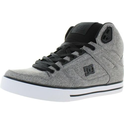 DC Mens Spartan High WC TX SE  Gray Skate Shoes Sneakers 9 Medium BHFO 3299 D