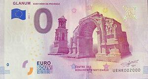 BILLET-0-EURO-GLANUM-ST-REMY-DE-PROVENCE-FRANCE-2018-NUMERO-2000