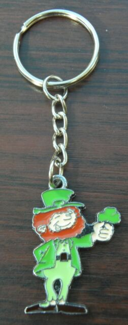 Irish Shamrock Keyring Ireland Eire Gaelic Key Ring St Patricks Day Gift