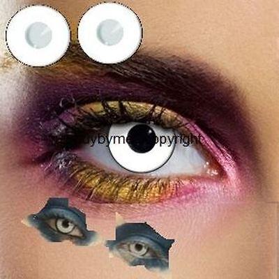 80021 lentille de couleur blanche colored lens white contact us halloween manson