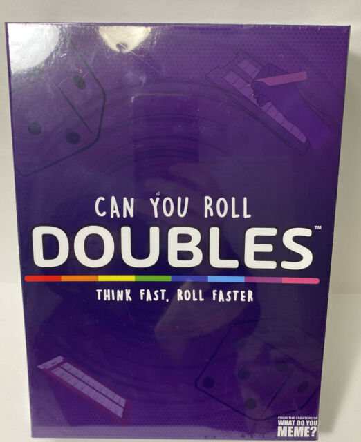 Can you Roll Doubles Think Fast Roll Dice Game Boards Markers What Do You Meme