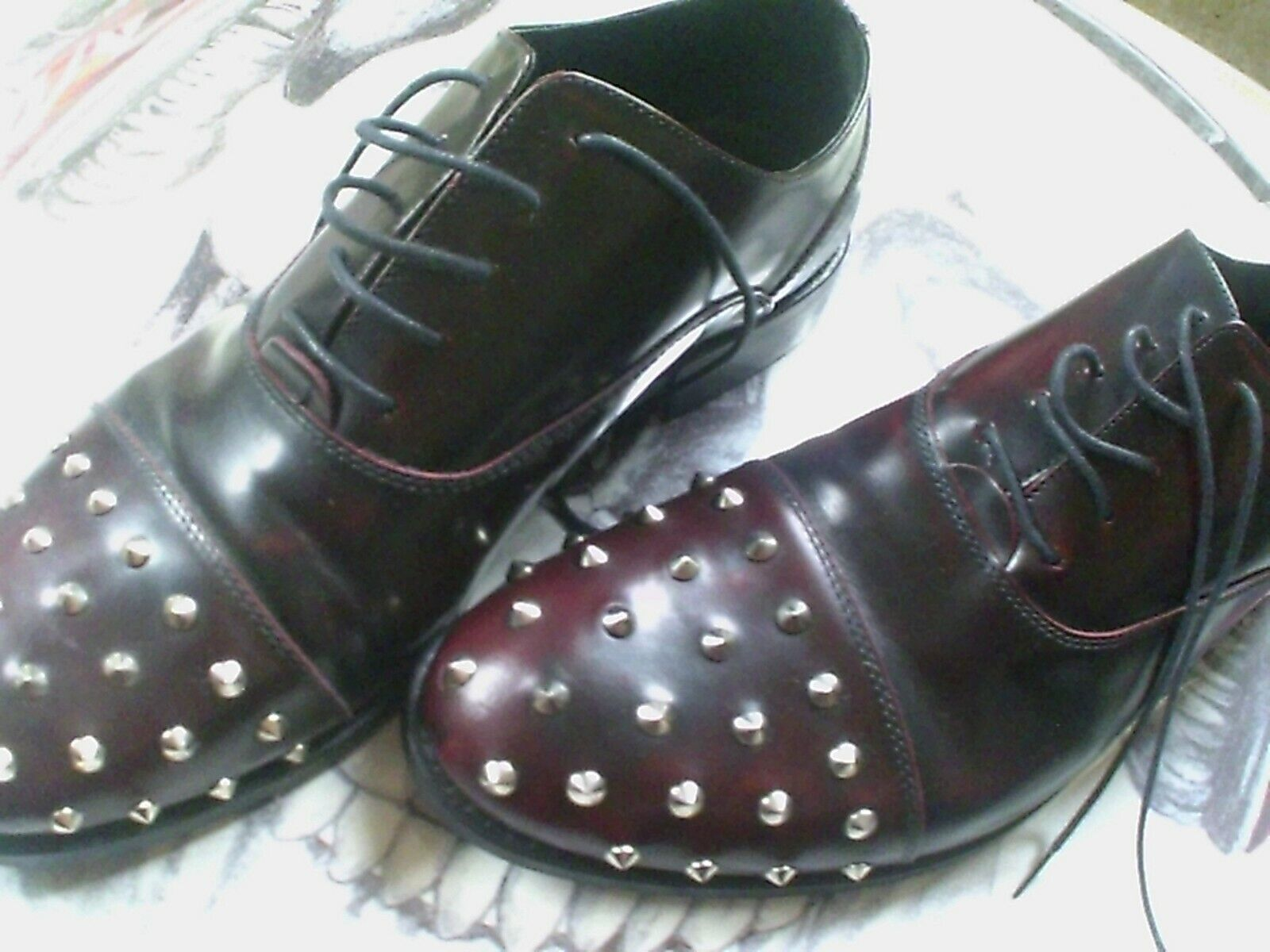 Sconto del 40% KURT GEIGER  oxblood STUD scarpe LEATHER Lace-up STYLE,MODS,PUNK STYLE,MODS,PUNK STYLE,MODS,PUNK ELECTRO  fornire un prodotto di qualità