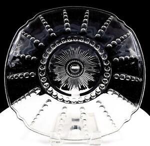 FEDERAL-GLASS-COLUMBIA-CLEAR-DEPRESSION-ERA-11-034-CHOP-PLATE-1938-1942