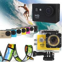2.0'' 12MP Action Sport Kamera DV Cam Full HD 1080p Helmkamera Wasserdicht Hot