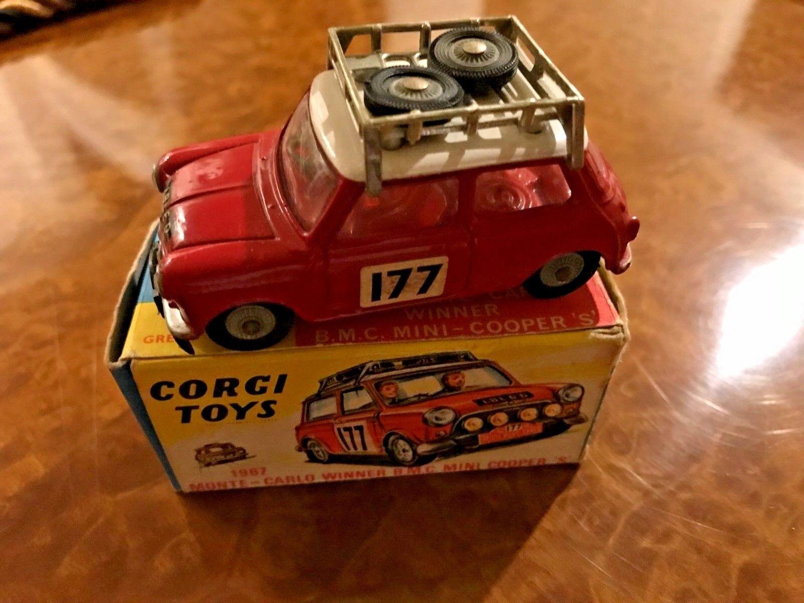 Vintage Corgi Toys   MIB   Mini Cooper S   Monte Carlo Rally Winner   No. 330