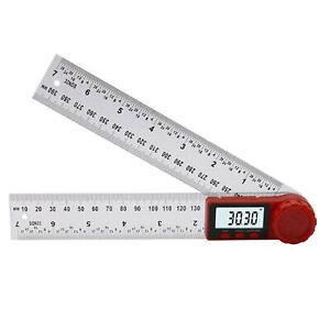 0-360° Digital Angle Finder Protractor LCD Gauge Stainless Steel Ruler Measure