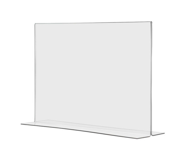 Bottom Loading 17 X 11 Clear Acrylic Sign Frames For Counter Top