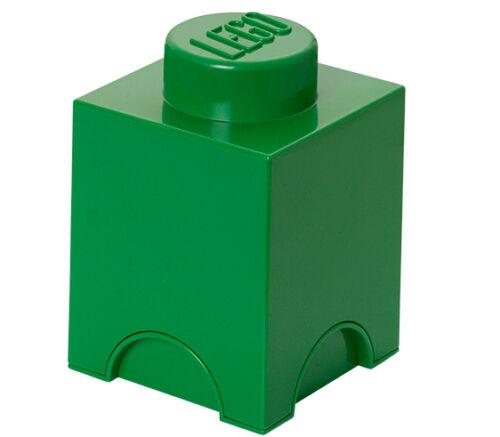 LEGO Storage Brick 1 Aufbewahrungsbox GRÜN GREEN Neu Ovp