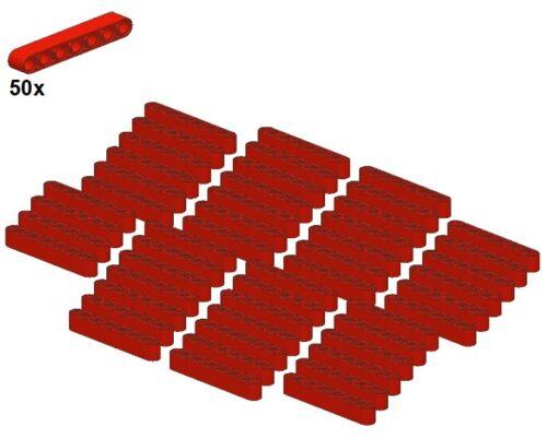 Rot 50Stk Technic Liftarms 1x7 LEGO® 32524-01 Gerade/& Red - Balken