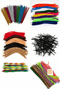 Pipe-Cleaners-Toys-Art-And-Craft-Christmas-Easter-Tinsel-Black-Colour-etc