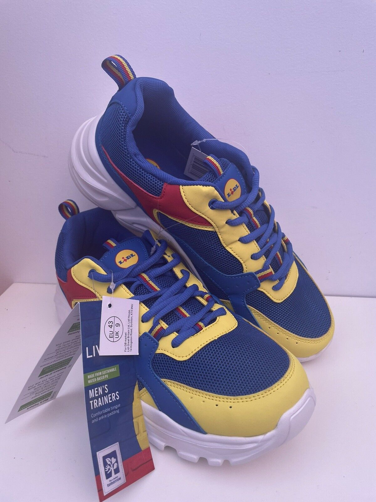 Men's Lidl Trainers UK Size 9 EU Size 43 brand new with Tags Special Edition.