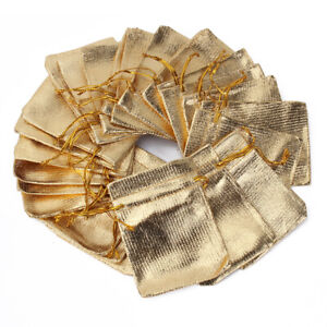 50-Sac-Cadeau-Sachet-Pochette-dore-Organza-Bijoux-bonbon-Rangement-Tis-HBY