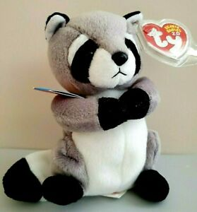 Ty Beanie Babies Ricky Racoon #42048 DOB  New w/Tag & Tag Cover💖