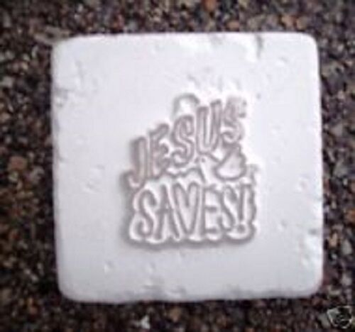 Christmas religious tile accent plastic mold Jesus saves
