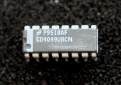 CD Nacional 4049 UBCN CMOS Hex inversora Buffer PDIP pk de 3